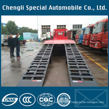 FAW 8*4 Flat Bed Truck for Loading Excavator Truck